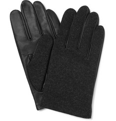 Lanvin - Wool and Leather Gloves