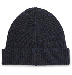 Lanvin Ribbed Merino Wool and Camel-Blend Beanie
