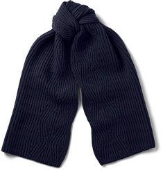 Lanvin Ribbed-Knit Wool Scarf