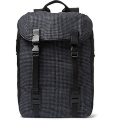 Lanvin Houndstooth Felt and Shell Backpack