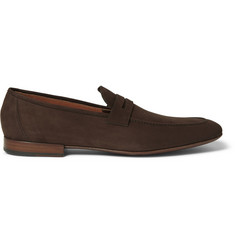 Loro Piana Flex and Walk Nubuck Loafers