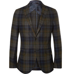 Etro Unstructured Check Wool-Blend Blazer