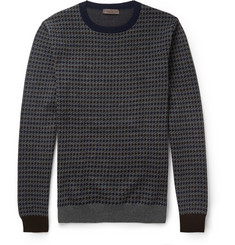 Etro Houndstooth Wool Sweater
