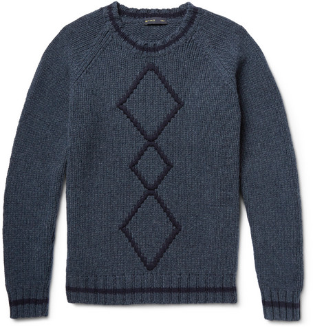 Etro - Argyle Ribbed-Knit Wool Sweater MR PORTER