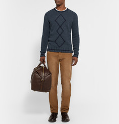 Etro Argyle Ribbed-Knit Wool Sweater
