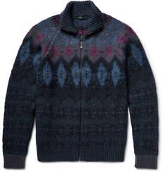 Etro Fair Isle Wool-Blend Cardigan