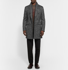 Etro Double-Breasted Herringbone Wool-Blend Coat