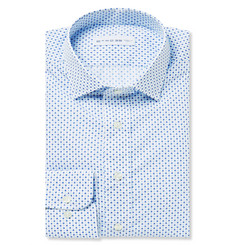 Etro Blue Paisley-Print Cotton-Poplin Shirt