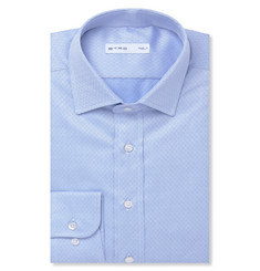 Etro Light-Blue Slim-Fit Printed Cotton Shirt