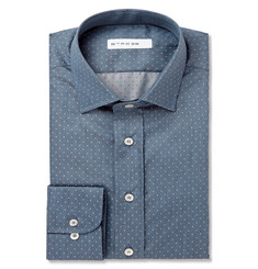 Etro Polka-Dot Cotton-Chambray Shirt