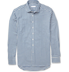 Etro Slim-Fit Checked Brushed-Cotton Shirt