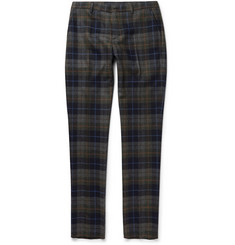 Etro Slim-Fit Checked Wool-Blend Trousers