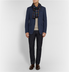 Etro - Plaid Cashmere and Silk-Blend Scarf