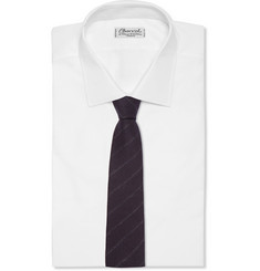 Etro Striped Wool and Silk-Faille Tie