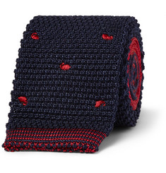 Etro Dotted Knitted Wool and Silk-Blend Tie