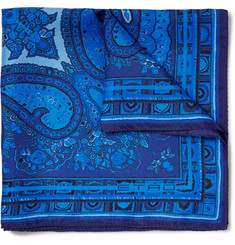 Etro Paisley-Print Silk Pocket Square