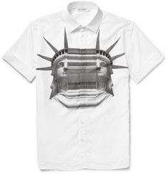 Neil Barrett Printed Stretch-Cotton Poplin Shirt