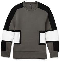 Neil Barrett Block-Panelled Jersey Sweatshirt
