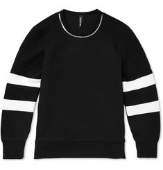 Neil Barrett Zipper-Trimmed Tech-Jersey Sweatshirt