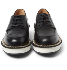 Givenchy Chain-Trimmed Leather Derby Shoes