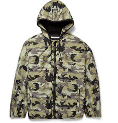 Givenchy Camouflage-Patterned Hooded Shell Jacket