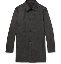 Calvin Klein Collection Grid Jacquard Wool Overcoat