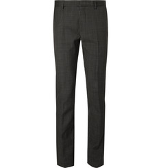 Calvin Klein Collection Slim-Fit Printed Bonded Wool Trousers
