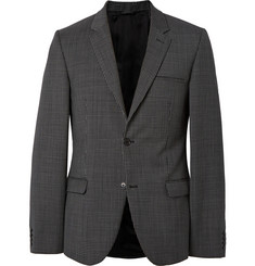 Calvin Klein Collection Black Checked Wool Blazer