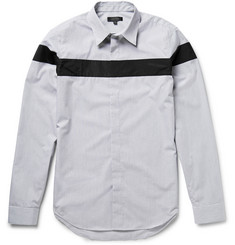 Calvin Klein Collection Panelled Checked Cotton-Poplin Shirt