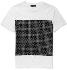 Calvin Klein Collection Brick-Print Stretch-Cotton T-Shirt