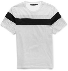Calvin Klein Collection Striped Cotton-Jersey T-Shirt