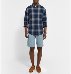 Alex Mill Bay Button-Down Collar Checked Cotton Shirt