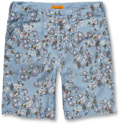 Alex Mill Floral-Print Cotton-Chambray Shorts