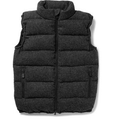 Aspesi Down-Filled Quilted Wool Gilet