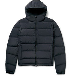 Aspesi Hooded Quilted Stretch-Shell Down Jacket