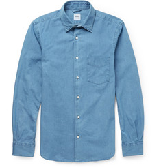 Aspesi Slim-Fit Washed-Denim Shirt