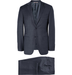 Canali Navy Milano Slim-Fit Wool Suit