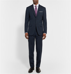 Canali Midnight-Blue Slim-Fit Wool-Blend Travel Suit