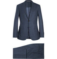 Canali Navy Prince of Wales Checked Wool Suit