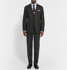 Canali Slim-Fit Stretch-Wool Trousers