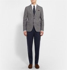 Canali Slim-Fit Stretch Wool-Blend Twill Trousers