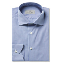 Canali Blue Gingham Cotton Shirt