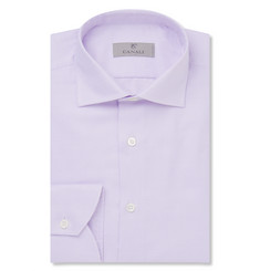 Canali Lavender Pin-Dot Cotton Shirt