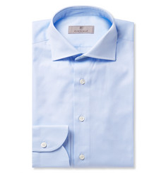 Canali Light-Blue Cotton-Twill Shirt