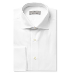 Canali White Double-Cuff Cotton-Twill Shirt