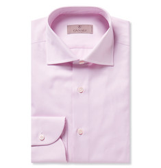 Canali Pink Cotton-Twill Shirt