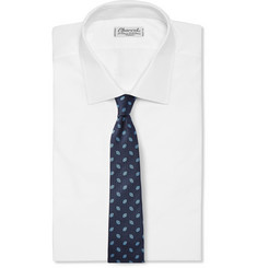 Canali Floral-Jacquard Silk Tie