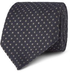 Canali Patterned Silk and Cotton-Blend Tie