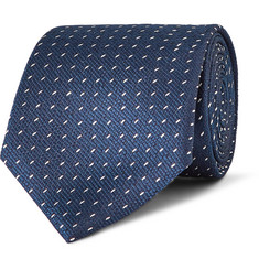 Canali Patterned Silk-Jacquard Tie