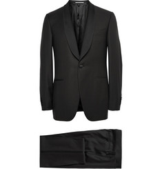Canali Black Slim-Fit Satin Trimmed Wool Tuxedo